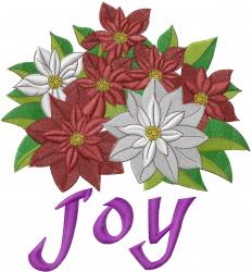 Christmas Pointsettia Joy embroidery design