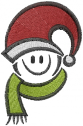 Smiley Santa embroidery design