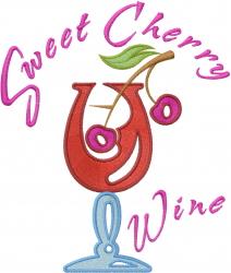 Sweet Cherry Wine embroidery design