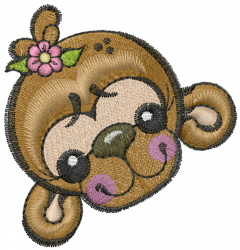 Monkey Face Embroidery Designs Machine Embroidery Designs At EmbroideryDesigns.com