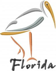 Florida Flamingo embroidery design