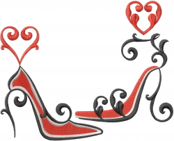 High Heel Lover embroidery design