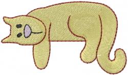 Rescue Cat embroidery design