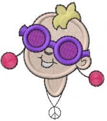 Diva Head embroidery design