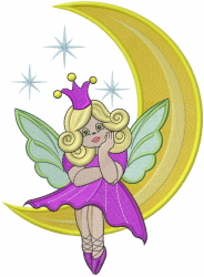 Moon Fairy embroidery design