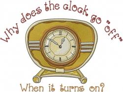 Clock Go Off embroidery design