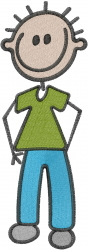 Stick Man embroidery design