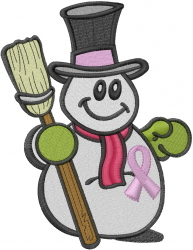 Hope Snowman embroidery design