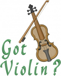 Got Violin embroidery design