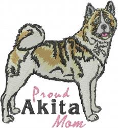 Proud Akita Mom embroidery design