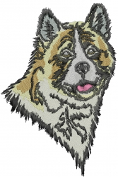 Akita Head embroidery design