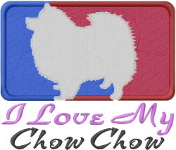 Love My Chow Chow embroidery design