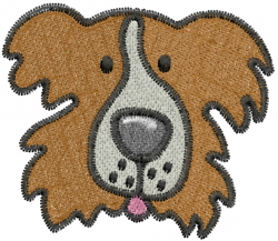 Australian Shepard Head embroidery design