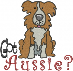 Got Australian Shepard embroidery design