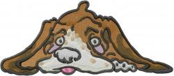 Bassett Hound Face embroidery design