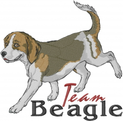 Team Beagle embroidery design