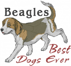 Beagles Are Best embroidery design