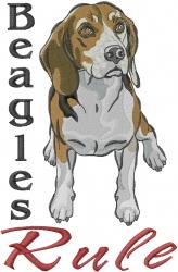 Beagles Rule embroidery design