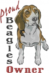 Proud Beagle Owner embroidery design