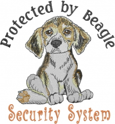 Beagle Security System embroidery design