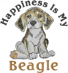 Happiness Is My Beagle embroidery design