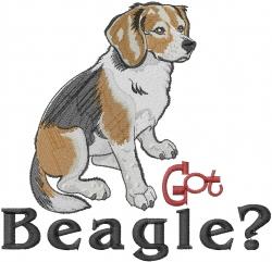 Got Beagle embroidery design