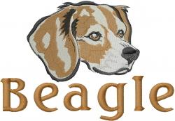 Beagle Head embroidery design