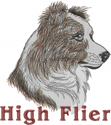 Border Collie Head embroidery design