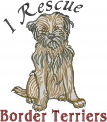Border Terrier Rescue embroidery design