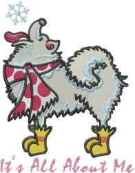 All About Winter Dog embroidery design