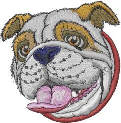 Bulldog Head embroidery design