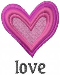 Valentine Love Heart embroidery design