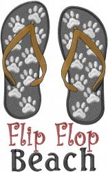 Beach Flip Flops embroidery design