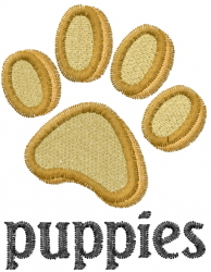Puppies Paw Print embroidery design