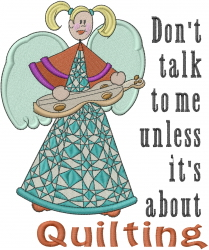 Quilting Angel embroidery design