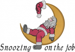Santa Claus Snoozing embroidery design