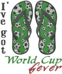 World Cup Sandals embroidery design