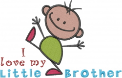Love Little Brother embroidery design