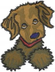Chocolate Labrador embroidery design