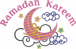 Ramadan Kareem embroidery design