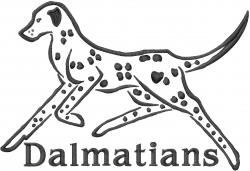 Dalmatians embroidery design