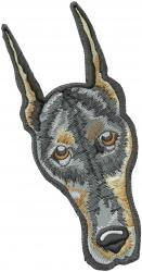 Doberman Head embroidery design