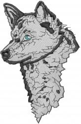 Finnish Spitz Head embroidery design