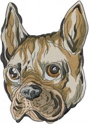 French Bulldog Head embroidery design