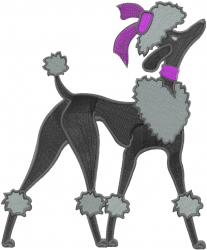 French Poodle embroidery design