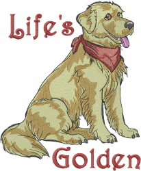 Lifes Golden embroidery design