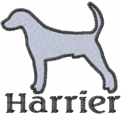 Harrier embroidery design