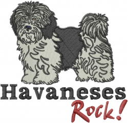 Havaneses Rock embroidery design