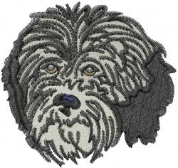 Havanese Head embroidery design