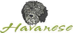 Havanese embroidery design